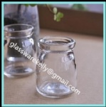 Glass Pudding Bottle glass pudding jar